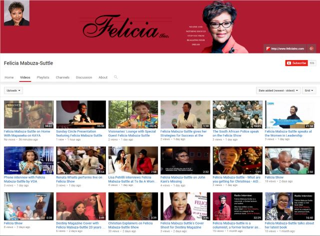 Visit Felicia's YouTube Channel